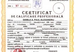 Certificat de calificare profesionala pentru stuparit