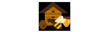Fagurele Fermecat a construit o stupină confortabilă în care albinele noastre muncitoare produc toate sortimentele de miere și alte produse apicole.
